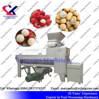 Advanced Lychee Longan Rambutan Peeling and Pitting Machine, lychee peeler and pitter