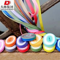 Colorful gradient transparent double smooth flat shoelaces