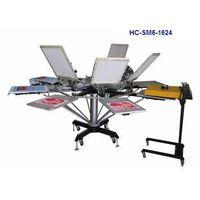 6 colour screen printer