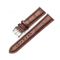 Leather watch strap with crocodile grain