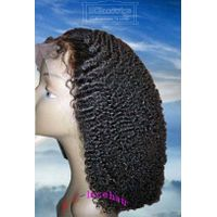 Wholesale Virgin Human Hair Afro Kinky Curly Full Lace Front Wigs Manufacturer for African Americans thumbnail image