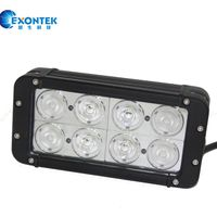 LED 4x4 light bar for Jeep Truck tractor Boat 80W Crees with low price 80W Spot Flood Beam headlight