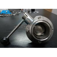 Stainless Steel Manual Welded Sanitary Butterfly Valve thumbnail image