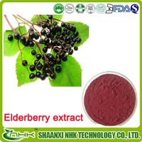 2015 Natural Elderberry Anthocyanin 5%-70%, food supplement elderberry extract