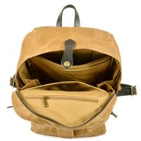 Waterproof outdoor Unisex Waxed Canvas School bags sports backpack Bag Bolso thumbnail image