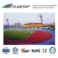 Anti-UV, Anti-Skid, Water-Resistance, Weather-Resistance, IAAF Prefabricated Rubber Running Track
