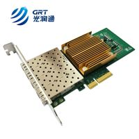 1G 4 port SFP PCIe Card Intel I350AM4 based Adaptateur reseau Ethernet fibre optique