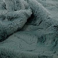 Pure color embossed faux fur fabric made in South Korea thumbnail image