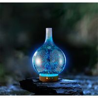 Vase 3D Glass Oil Diffuser 100ml Firework Air Humidifier Glass Essential Oil Aroma Diffuser