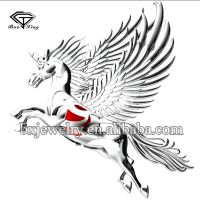 2017 trending products fashion charm 925 silver unicorn cage pendant with wing