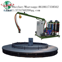 48 mold stations Bicycle seat sponge molding turntable production line with automatic injection pu thumbnail image