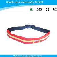 High-grade elastic nylon for running men waist bag