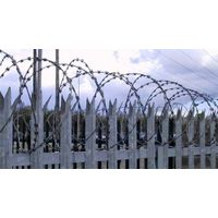 Palisade fencing with Razor Wire thumbnail image