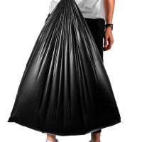 Flat garbage bag trash hdpe garbage plastic bag black thick