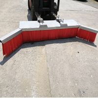 Larger Wings Edge Truck Forklift Attachment Broom