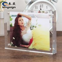 Kingsign factory customize clear acrylic photo frame
