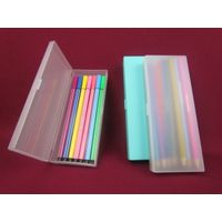 Factory Wholesale plastic custom pen box,size 180x70x25mm