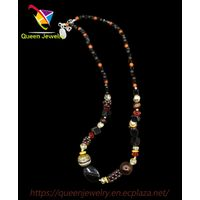 dusklight crystal jewelry Handmade Natural black agate Beads Necklace jade necklace price