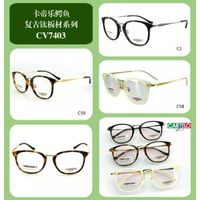 2016 latest trendy optical half frame wholesale eyeglasses clear lens safety