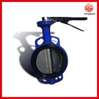 Cast Iron Wafer Type Industrial Butterfly Valve