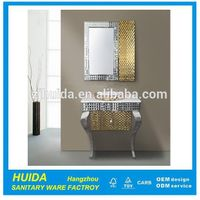Modern Floor Mounted Single Sink Stainless Steel Bathroom Cabinet