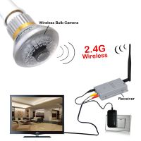 2.4G Wireless Bulb CCTV Security Camera Set with Receiver