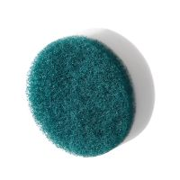 Round scrubber cleaing sponge white magic sponge and scouring pad composite kitchen cleaning eraser