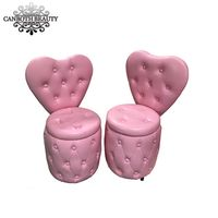 Pink heart shaped customer stool chair/Rounding nail technician chair