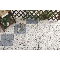 30x30cm outdoor waterproof natural travertine stone deck flooring tiles for garden by China manufact