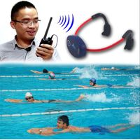 New Swimmer coaching radio swimming bone conduction headphone