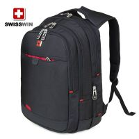 SWISSWIN Army Knife business computer backpack doubles backpack women black travel backpack thumbnail image