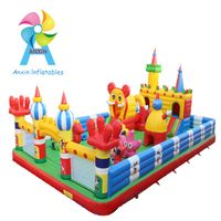 interesting inflatable kids castles/inflatable bouncer bounce castle playgrounds with slide in Mall/ thumbnail image