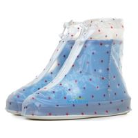 Fashion Polka-dot Women Waterproof PVC Rubber Rain boots