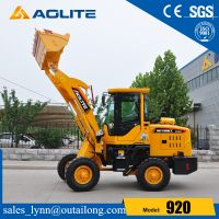 AOLITE brand mini front end wheel loader 920 with sapre parts for sale