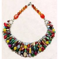 Fashion Colorful Stone Beads Necklace Handmade high quality