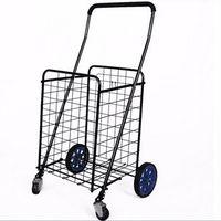 Portable Folding Luggage Trolley /Shopping Carts/ four big wheel folding wire shopping cart thumbnail image