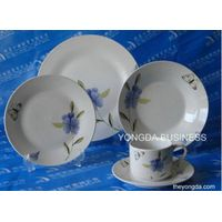 18 pieces white porcelain dinner set / dinnerware / tableware / round and square thumbnail image