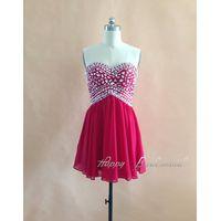 Fuchsia Short Mini Sexy Prom Dress, Homecoming Dress, Cocktail Dress, Dance Party Dress