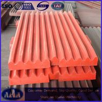 high manganese steel casting jaw crusher plate