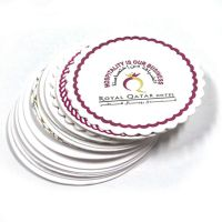 Wholesale Custom Printed Hotel Disposable Round Cheap Absorbent Coaster