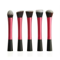 5pcs synthetic claret-red makeup blush foundation blending powder  brushes set