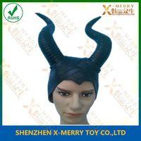 maleficent props horned cap halloween makeup