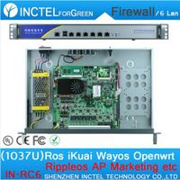 1037U multi gigabit network port routing 1U high end Firewall Server with Intel PCI E 1000M 6 82583V