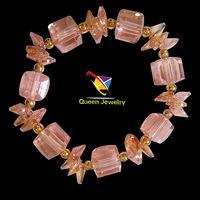 wholesale zircon tourmaline bangle high fashion jewelry women girl bangles American Diamond chain