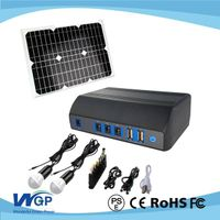 stanby solar backup battery box solar lamp with 3w led bulb lighting system