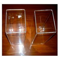 square shape clear quartz crucible used as water tank