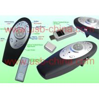 wireless/cordless laser usb presenter with track-ball mouse