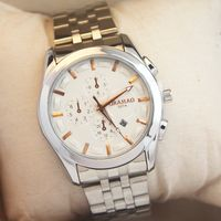 Mens fashion business watches waterproof stainless steel watches