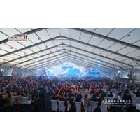 5000 People Big Clear Tent with Stage for Concert and Events