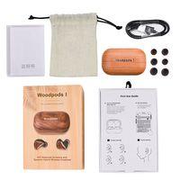 true wireless wooden earbuds modelo tws true mini bluetooth 5.0 life true woodpods thumbnail image